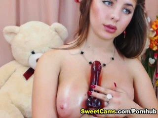Busty loira legal age adolescente titty fucking