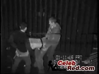 Real segurança cam fita de bêbado menina fodido em um beco