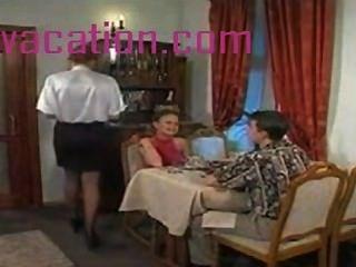 Tímido loira mostra boobs e ataque pau quando ela fica vestido córneo ffm