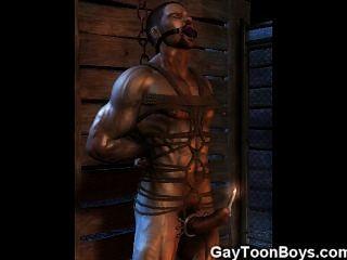 Os gays do músculo 3d fodem meninos retos!