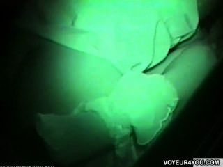 Outdoor voyeur carro sexo filmagem